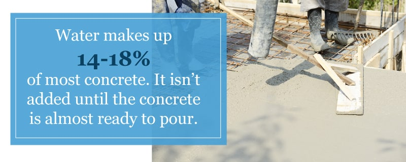 What makes up concrete